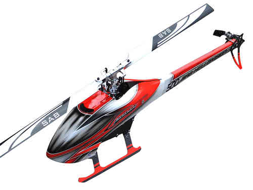 SAB GOBLIN 500 RED/WHITE (With main and tail blades)