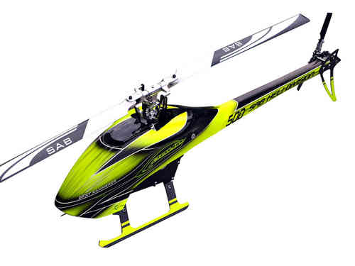 SAB GOBLIN 500 YELLOW/BLACK (With main and tail blades)