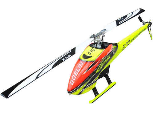 SAB GOBLIN 570 YELLOW/ORANGE (with main and tail blades) [SG570]