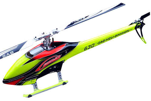 SAB GOBLIN 630 COMPETITION YELLOW/ORANGE (With main and tail blades) [SG633]