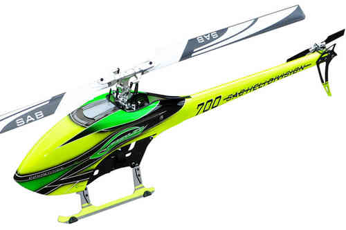 SAB GOBLIN 700 COMPETITION YELLOW/GREEN (With main and tail blades) [SG703]