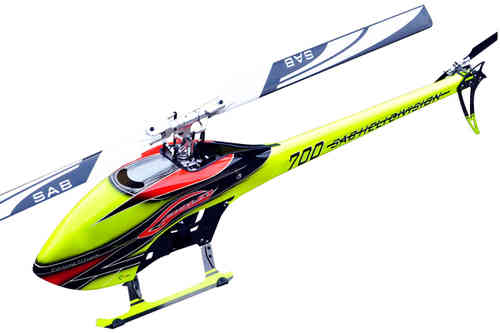 SAB GOBLIN 700 COMPETITION YELLOW/ORANGE (With main and tail blades) [SG704]
