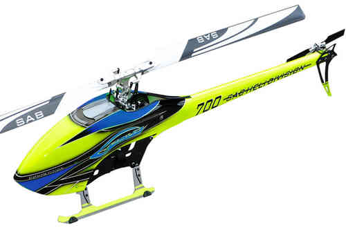 SAB GOBLIN 700 COMPETITION YELLOW/BLUE (With main and tail blades) [SG705]