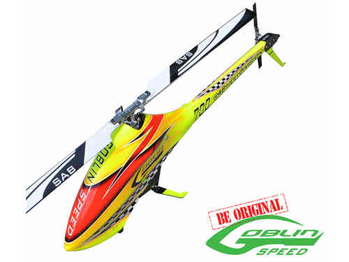 SAB GOBLIN 700 SPEED YELLOW/RED (With main and tail blades) [SG720