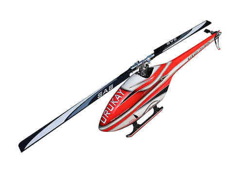 SAB GOBLIN URUKAY 2 BLADES RED/WHITE (With Black Line Main And Tail Blades) [SG754]