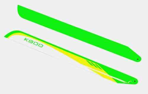 600W KBDD CF 600mm FBL Lime/Yellow/White Main Blades Painted, 1Set