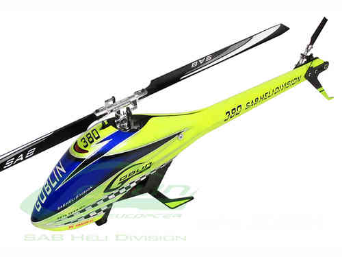 GOBLIN 380 YELLOW/BLUE (with blade and tail blade)